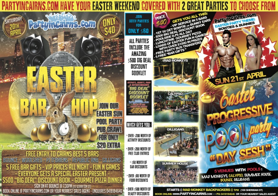 Cairns Easter Party Deals