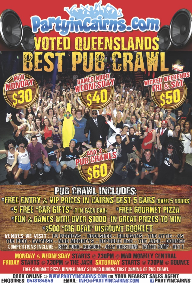 Wednesday Pub Crawl Cairns
