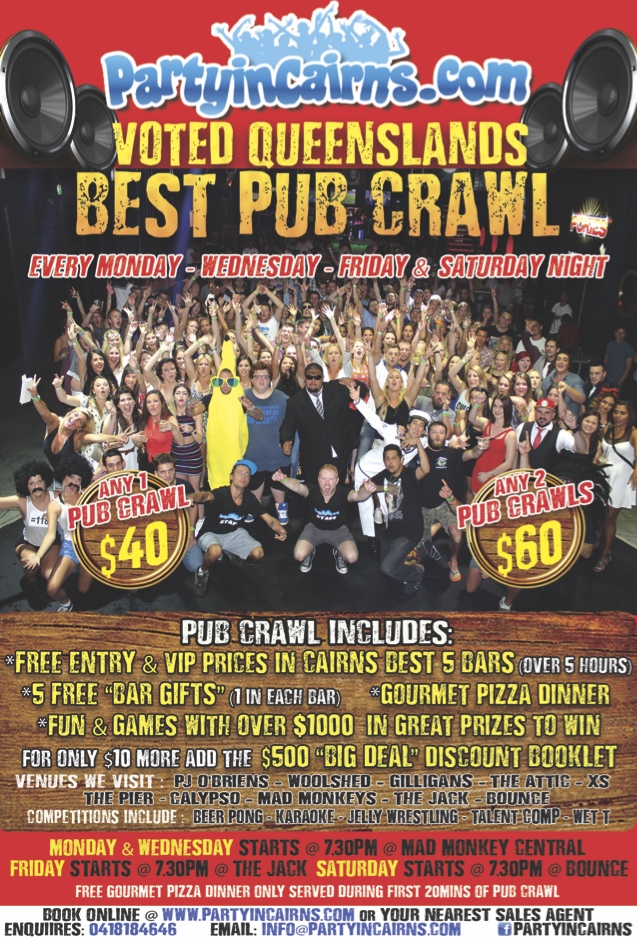 Any 2 Pub Crawls – Mon, Wed, Fri Or Sat